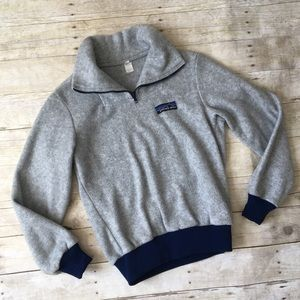 PATAGONIA Vintage Gray Fleece Pullover Jacket